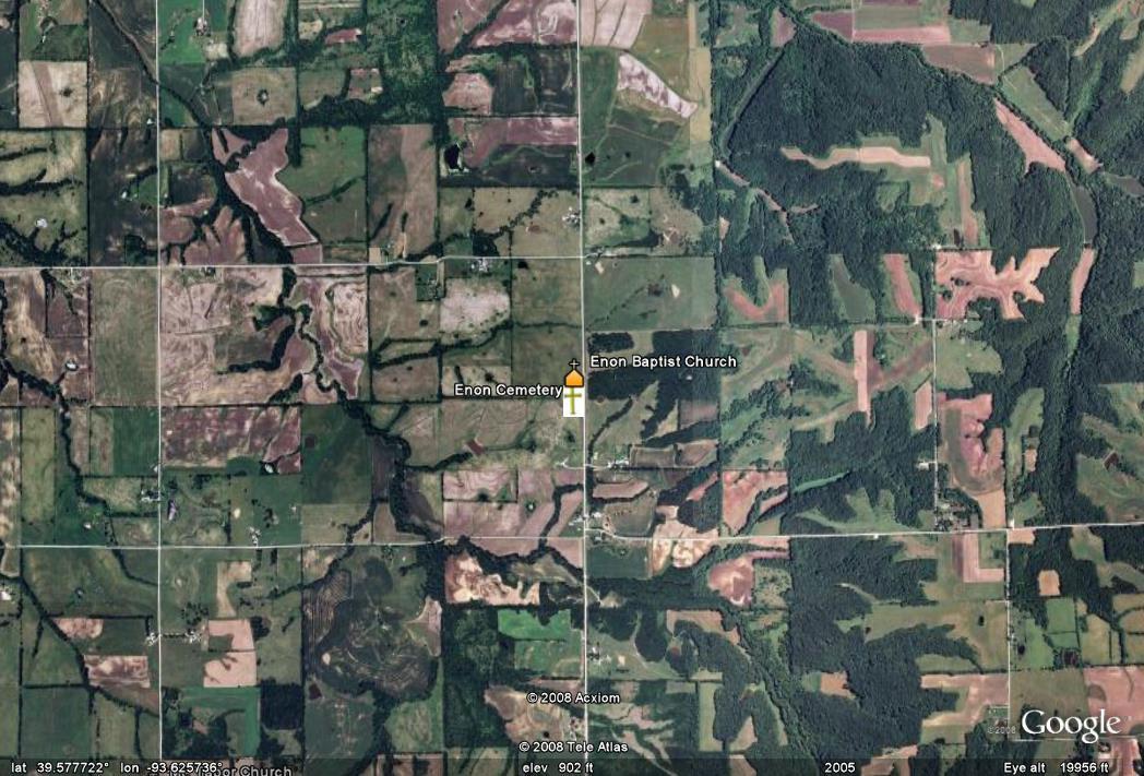 Carroll County Missouri Genweb Project Enon Cemetery